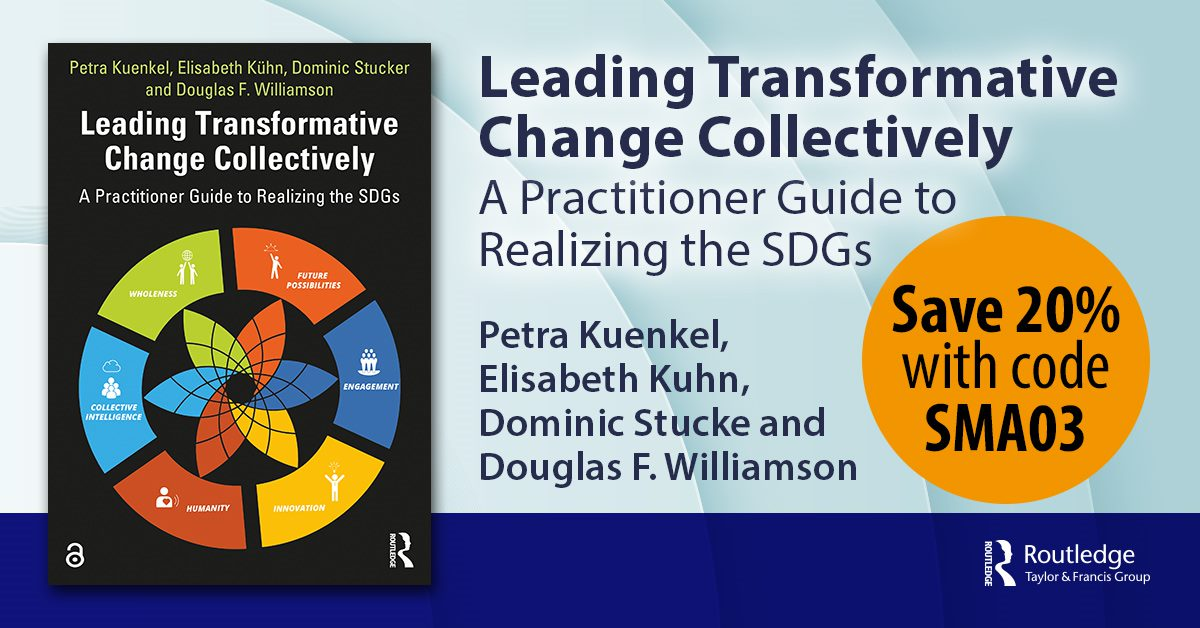 Leading Transformative Change Collectively Banner with Discount Code SMA03 for 20% discount